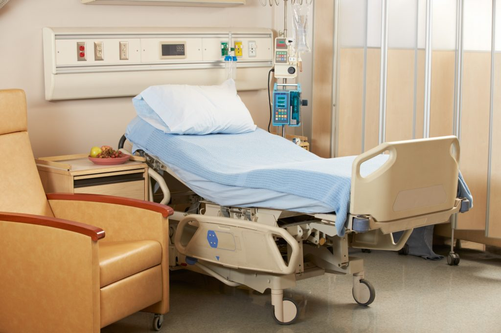 Bed On Hospital Ward